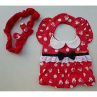 Disney Minnie 造型頭飾口水肩套裝