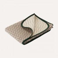 日本製OVLOV wool混6重紗布被 (S SIZE:70cmx100cm) herringbone