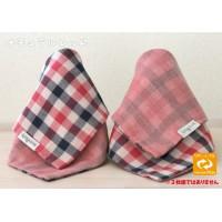 Femmebelly 手巾口水肩(紅黑格子)