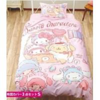 [Sarino] 貓版 Sarino角色 床單、被單與枕頭套 套裝