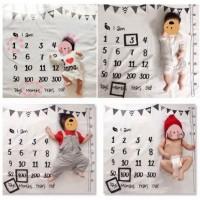 嬰兒用 誕生紀念歲數 攝影用背景毯