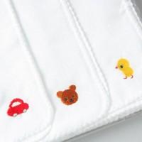 日本製 嬰兒白色刺繍紗布3張