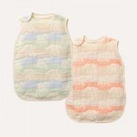 日本製 OVLOV 六重紗布睡袋 大象  藍色/粉紅