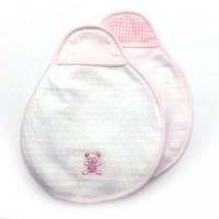 OP mini 前摺式 BB口水肩 2件裝 [日本制] 粉紅色