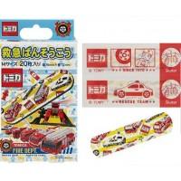 〈日本製〉Tomica  膠布 (消防車)20枚