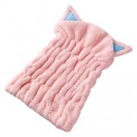 猫耳吸水頭髪毛巾(粉紅)