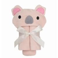 粉紅色樹熊大毛巾連帽