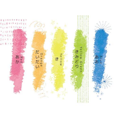 <日本製> 熒光蠟筆5color