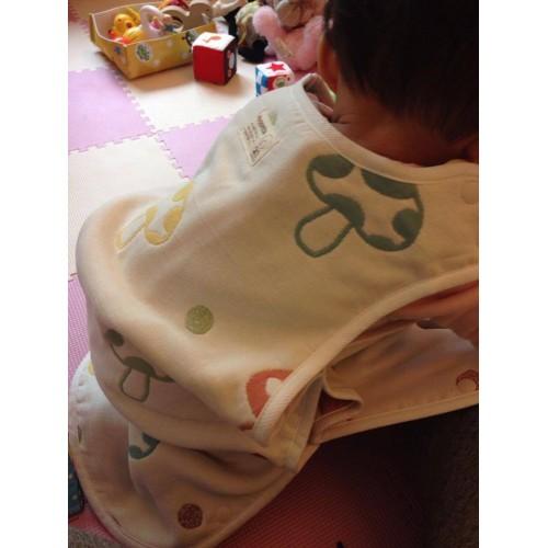 代購商品:Hoppetta 六重紗布防踢睡袍 sleeper (蘑菇 L size)