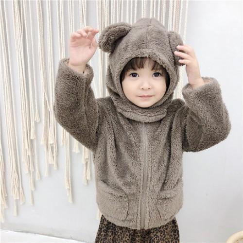熊耳帽子外套