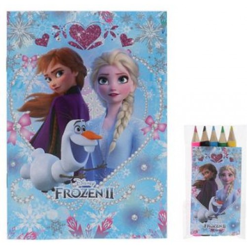 Disney Forzen II 繪色本& 5枝顏色筆