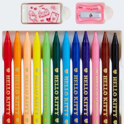 SAKURA HELLO KITTY彩色硬蠟筆12顔色