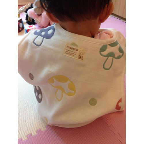 代購商品:Hoppetta 六重紗布防踢睡袍 sleeper (蘑菇 S size)
