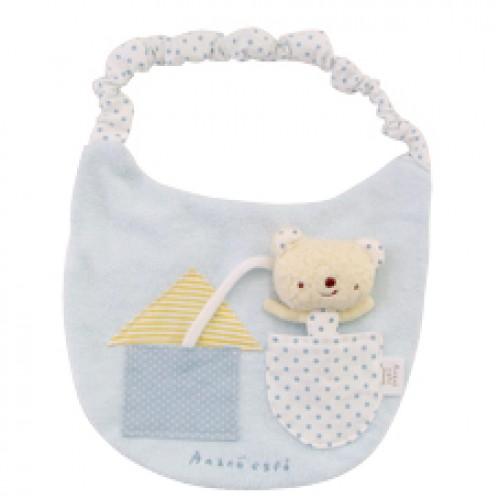 Anano Cafe with Bear Baby 口水肩  藍色