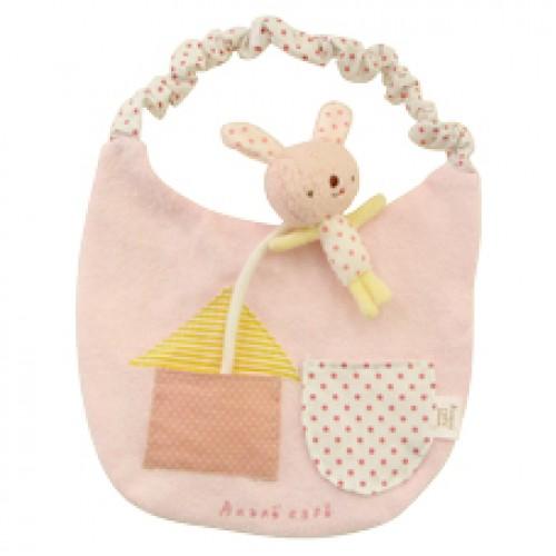 Anano Cafe with Rabbit Baby 口水肩  粉紅色