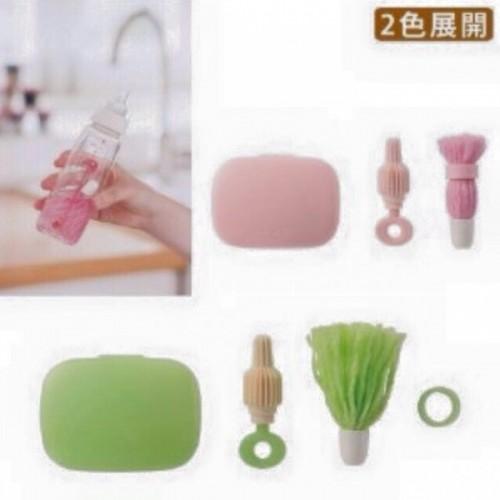 日本制 綠色 洗奶瓶套裝