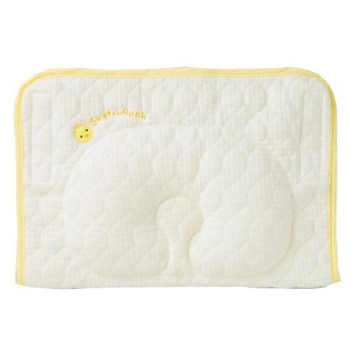 日本制 西川 Babypuff 伸手抱抱枕 黃色